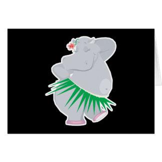 Cartes hippopotame de danse polynésienne