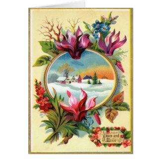 Cartes Hiver floral