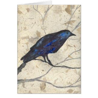 Cartes Hiver mystérieux Raven