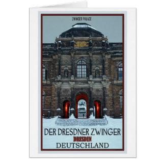 Cartes Hiver P de Dresde - de palais de Zwinger