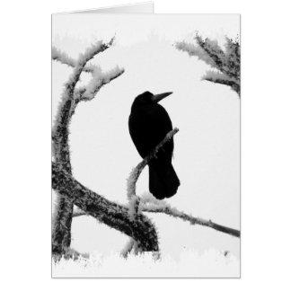 Cartes Hiver Raven Edgar Allan Poe de B&W