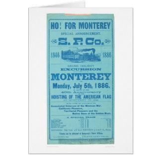 Cartes Ho pour Monterey ainsi. Publicité Pacifique
