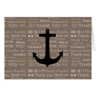 Cartes Homme d'ancre nautique de Merci le meilleur