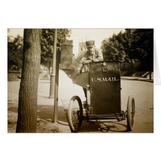Cartes homme de courrier des années 1900