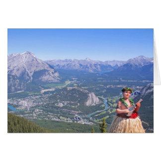 Cartes Homme de danse polynésienne dans Banff, Canada