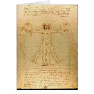 Cartes Homme de Vitruvian par Leonardo da Vinci