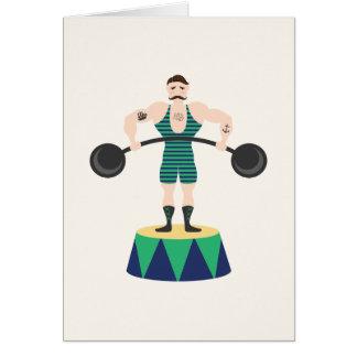 Cartes Homme fort de cirque