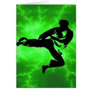 Cartes Homme vert de foudre d'arts martiaux