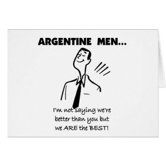 Cartes Hommes argentins