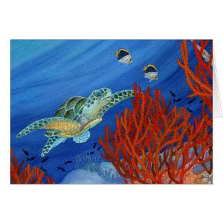 Cartes Honu et corail noir
