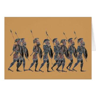 Cartes Hoplites du grec ancien de panoplie sur le