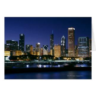 Cartes Horizon de Chicago du centre la nuit