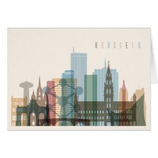 Cartes Horizon de ville de Bruxelles, Belgique |