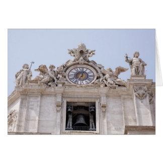 Cartes Horloge et Bell, Ville du Vatican, Rome, Italie