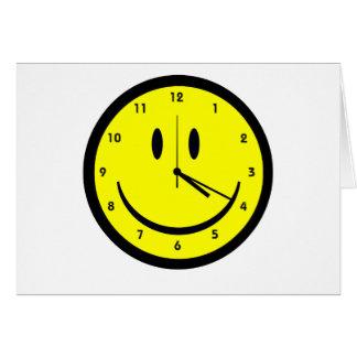Cartes Horloge heureuse de visage de hippie