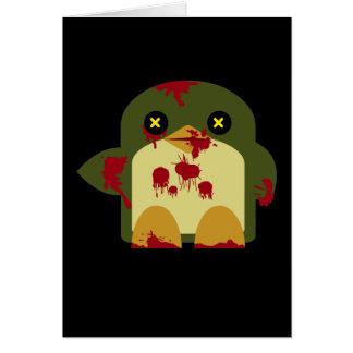 Cartes Horreur horrible de zombi de pingouin de Kawaii
