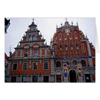 Cartes Hôtel de ville majestueux Riga, Lettonie