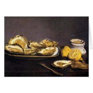 Cartes Huîtres - Édouard Manet