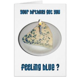 Cartes Humour d'anniversaire - fromage bleu