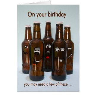 Cartes Humour de bière d'anniversaire vieillissant
