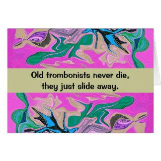 Cartes humour de joueur de trombone
