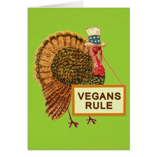 Cartes Humour de la Turquie de règle de végétaliens pour