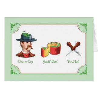 Cartes Humour de Noël, paix sur le puzzle de Rebus de la
