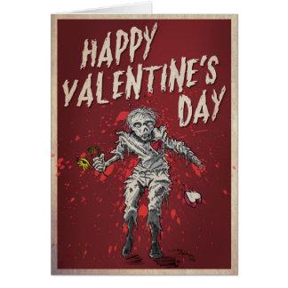 Cartes Humour de Saint-Valentin de zombi