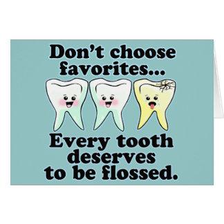 Cartes Humour dentaire de brosse et de soie