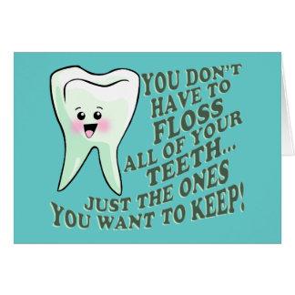 Cartes Humour d'hygiéniste dentaire de dentiste