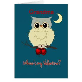 Cartes Humour mignon de hibou de Saint-Valentin de