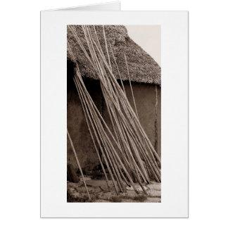 Cartes Hutte couverte de chaume