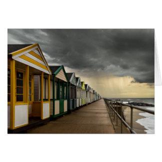 Cartes Huttes de plage dans un orage | Southwold d'été