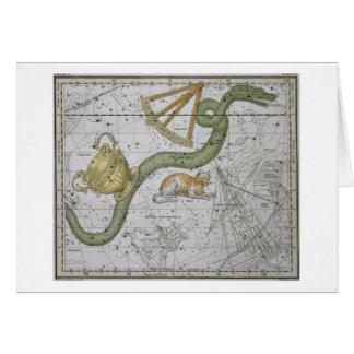 """Cartes Hydre, """"d'un atlas céleste"""", pub. en 1822 (col"""