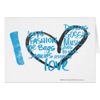 Cartes I Aqua de graffiti de coeur