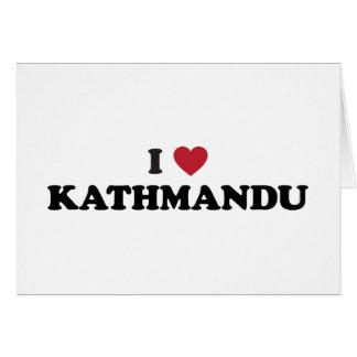 Cartes I coeur Katmandou Népal