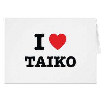 Cartes I coeur Taiko