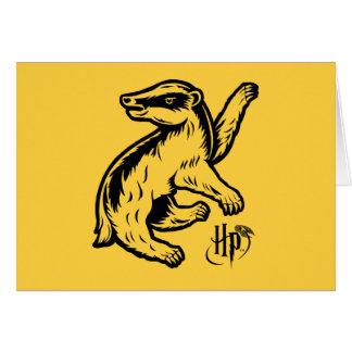 Cartes Icône de blaireau de Harry Potter | Hufflepuff