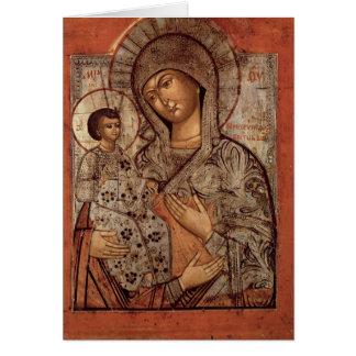 Cartes Icône de la Vierge bénie avec trois mains