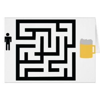 Cartes icône de labyrinthe de bière