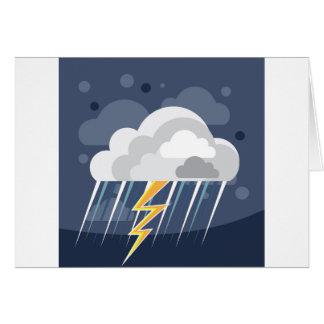 Cartes Icône de tempête de temps grave