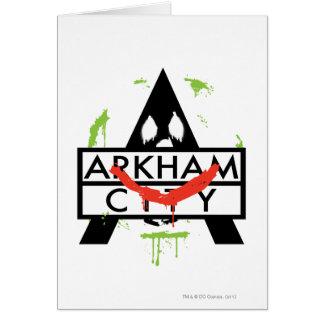 Cartes Icône de ville d'Arkham avec les marques 2 de