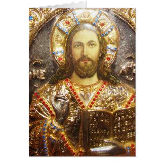 Cartes Icône orthodoxe de seigneur Jésus-Christ