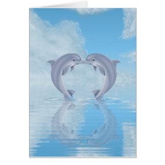 Cartes Idées de cadeau d'amants de dauphin