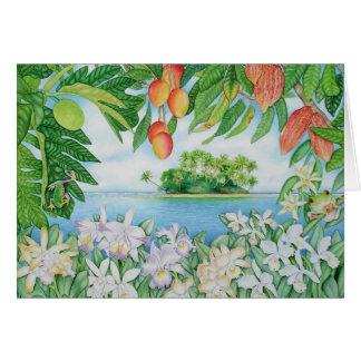 Cartes Île tropicale