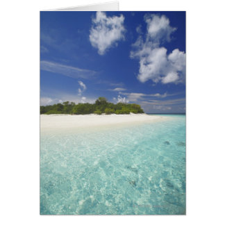Cartes Île tropicale entourée par la lagune, Maldives,