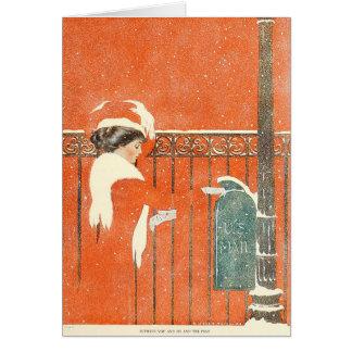 Cartes Illustration 1911 de Noël de Coles Phillips