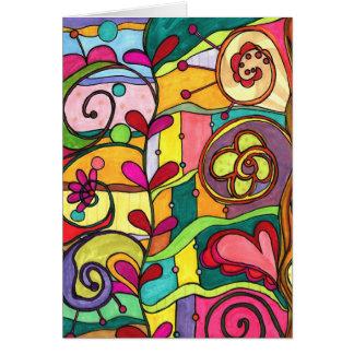 """Cartes illustration de """"amour et de couleur"""" par Paisley"""
