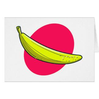 Cartes illustration de banane de style de bande dessinée