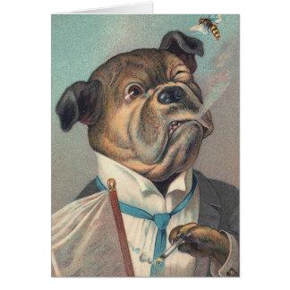 Cartes Illustration de cru de chien et de guêpe